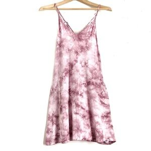 Tie Dye AEO Spaghetti Strap Dress Light Purple